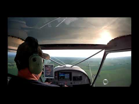 Crosswind practice on a breezy day in a CH750 STOL