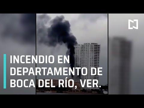 Incendio en departamento de Boca del Río, Veracruz - Las Noticias