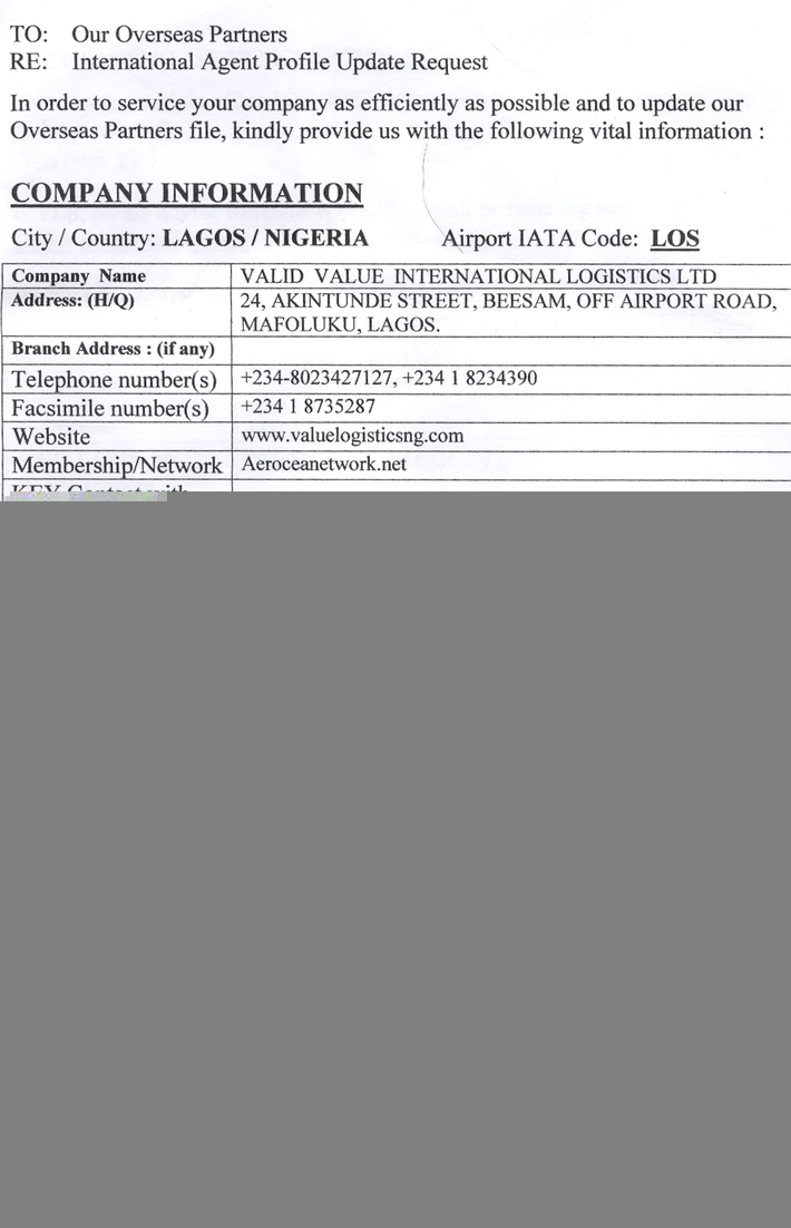 OYEKANMI THEOPHILUS OLUWATOSIN 's Page – Super Cargo Pros