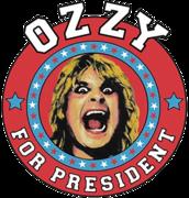 OZZY OSBOURNE For President T Shirt