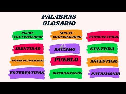 SEMANA 7 GLOSARIO ILUSTRADO  DE TÉRMINOS SOBRE INTERCULTURALIDAD E INCLUSIÓN