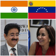 Sandeep Marwah Congratulated Ambassador of Venezuela