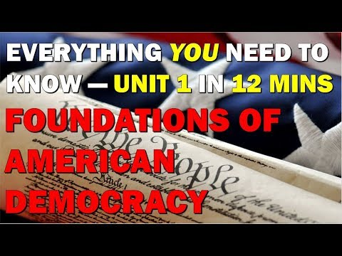 Unit 1 Review Foundations of American Democracy AP Government