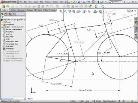 DSID-FA10, Bicycle Frame Geometry, Solidworks Tutorial