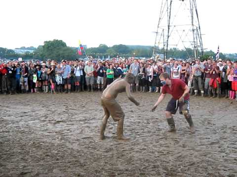 Glastonbury Mud Fight 2009