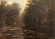 River Scene with Bridge