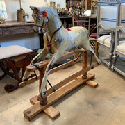 Antique Rocking Horse, Bow, Folk Art Rocking Horse, 19th Century Rocking Horse at Antiquated Antiques, Petworth, Sussex, UK