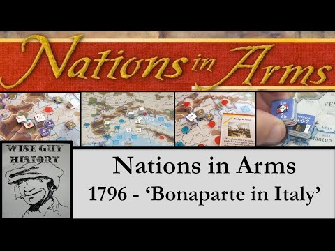 'Bonaparte in Italy' - 1796 Introductory Scenario from Nations in Arms [Playthrough] - Compass Games