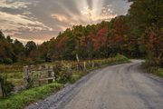 Back road sunset: North Carolina