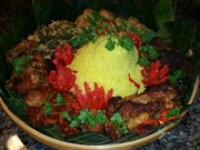 this is celebatory yellow rice made on special occasions