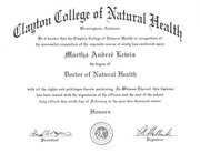 REV. DR. MARTHA LEWIS' DOCTORATE OF NATURAL HEALTH AWARDED FEBRUARY 9, 2011. FROM CLAYTON COLLEGE OF NATURAL HEALTH, NOW CLOSED