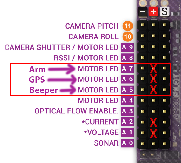 adding external led indicators and a piezo beeper for arm and gps att wiring diagram you will see that the an pins are labeled motor leds they really don't have a lot to do with the motors but they do serve as pretty handy indicators