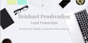 Reinhard Proofreading: Legal Transcripts