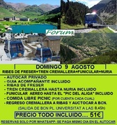 DOMINGO 9 AGOSTO EXCURSION A NURIA
