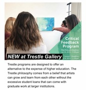 Critcal Feedback Program at Trestle Gallery