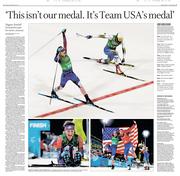 Jessie Diggins Gold Medal Doubletruck