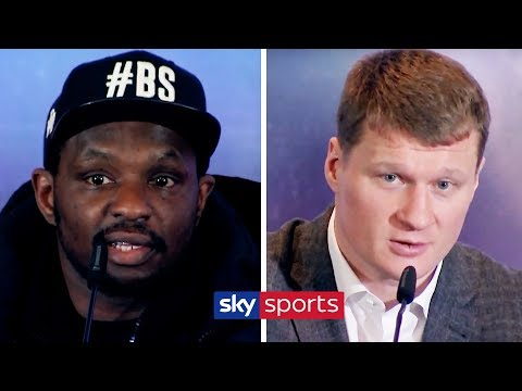 DILLIAN WHYTE VS ALEXANDER POVETKIN | LIVE PRESS CONFERENCE