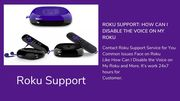Roku Support: How can I Disable the voice on My Roku