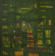 Arvind Hate Acrylic on Canvas 36X36 inch Green Enlightened