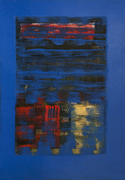 Arvind Hate 39x29 inch Acrylic on mount Devine Blue