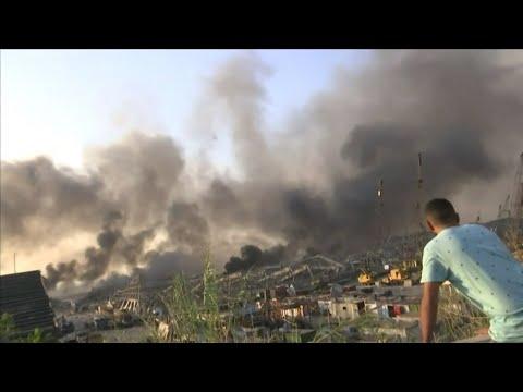 SECUELAS DE LA ENORME EXPLOSIÓN EN EL LIBANO - BEIRUT / Imagenes que pueden afectar la sensibilidad de las personas se recomienda discreción