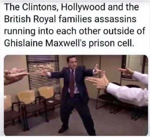 Meanwhile, outside Ghislaine Maxwell's prison...