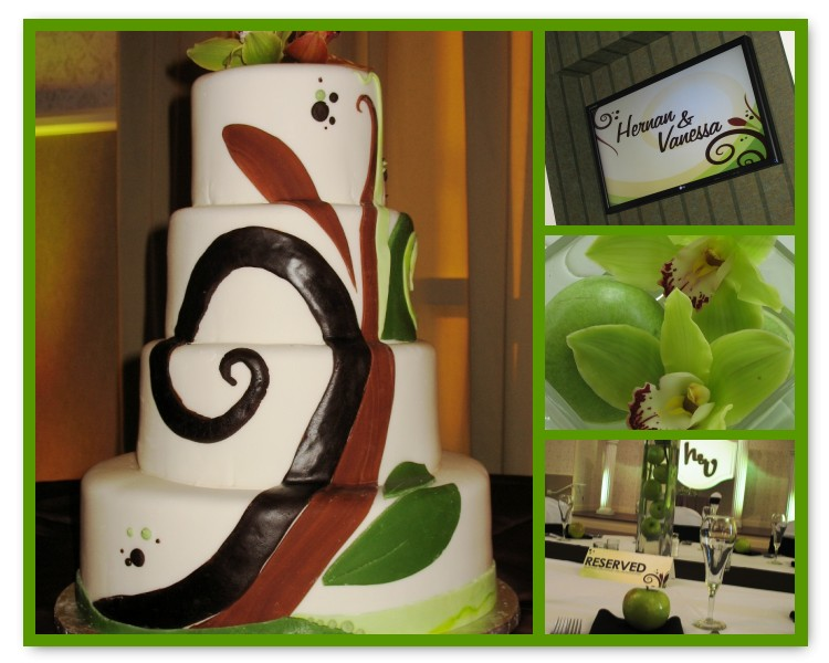 A Flair for Affairs; apple green wedding