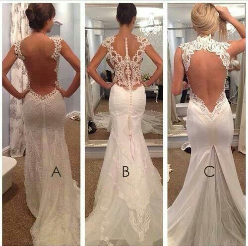 Wedding Gowns Open Back