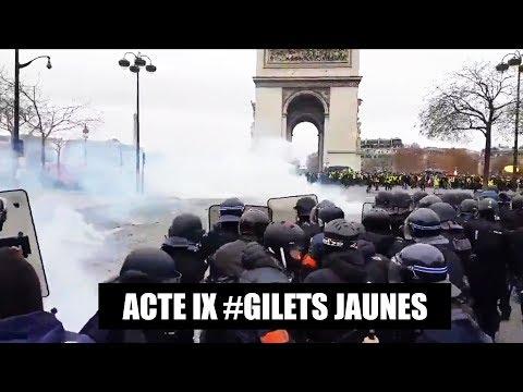 GILET JAUNE ACTE 9 : AFFRONTEMENTS avec la POLICE à Paris, Strasbourg, Toulouse ( Zapping )