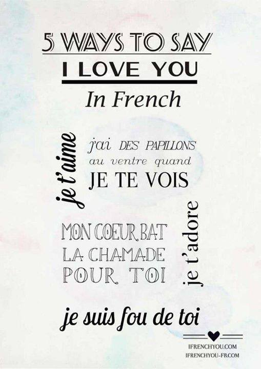 How to say i like u in french