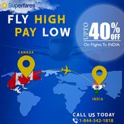 Get flights from Canada to India