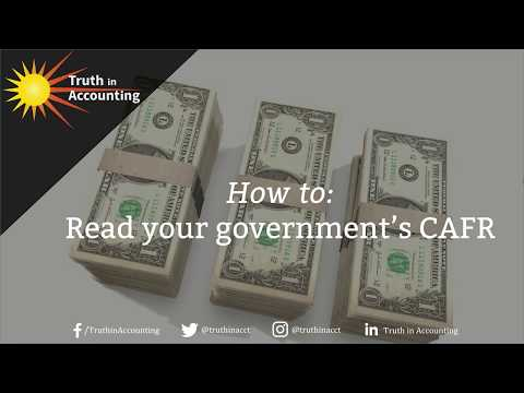 How to Read Your Government's CAFR