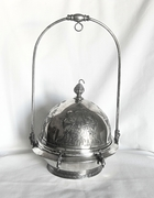 Quadruple Silver Plate Covered Butter Dish Meriden Aesthetic Period 1875 - 1920