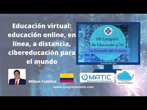 EDUCACIÓN VIRTUAL: Ed. online, Ed. en línea, Ed. a distancia, Ciber-Ed. para el mundo.