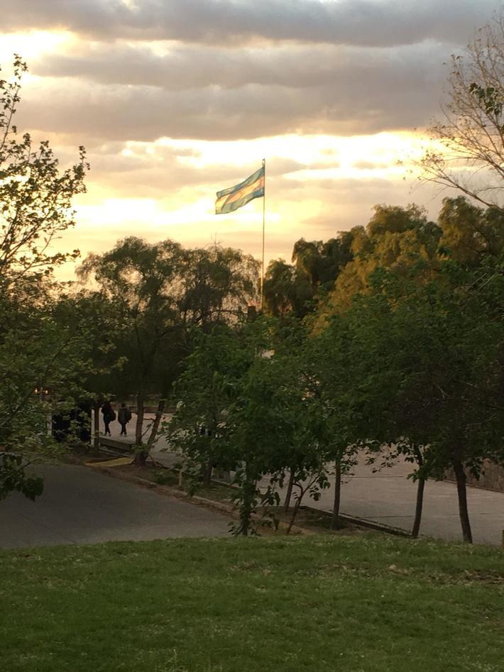 Flag Sunset