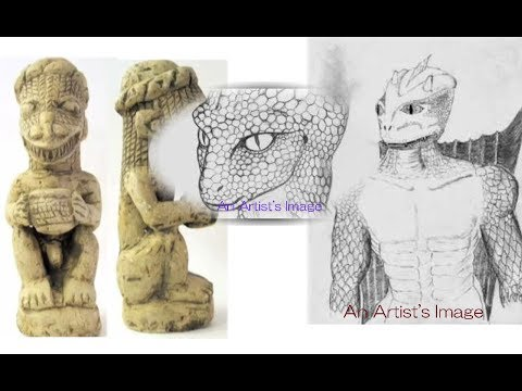 2745【01】 Draco Type Aliens  in Japan 日本にいたドラコ族エイリアン(レプティリアン)by Hiroshi Hayashi, Japan