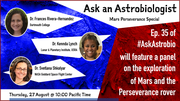 Ask an Astrobiologist: Mars Perseverance Special