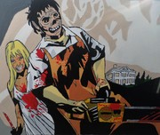 Sally and Leatherface from The Texas Chainsaw Massacre
