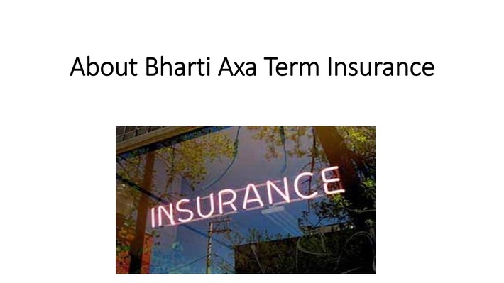 About Bharti Axa Term Insurance