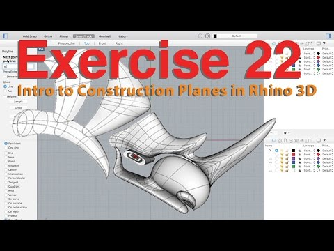 Intro to Construction Planes in Rhino 3D
