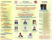 """One Week Online Faculty Development Programme on """"Digital Tools for Sustaining Academic Research during Pandemic COVID-19"""""""