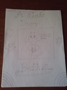A Cat's Diary Outline Sketch of Title Page
