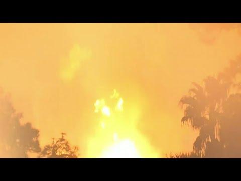 Gas line rupture sparks massive fire in Sanford Thursday