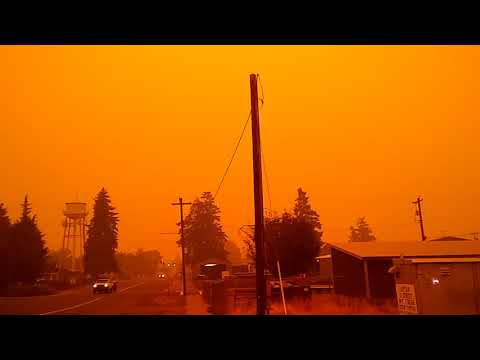 Eerie Scene: Hubbard Oregon Fires Cause Thick Smoke And Ash Falling From Fires Close To Town