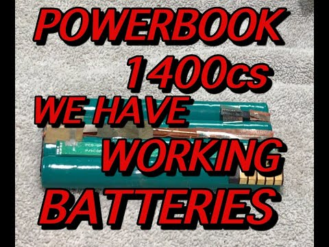 "POWERBOOK 1400 HAS WORKING BATTERIES HOW TO FIX PART 6 DAVE's VINTAGE APPLE TECH ""58"