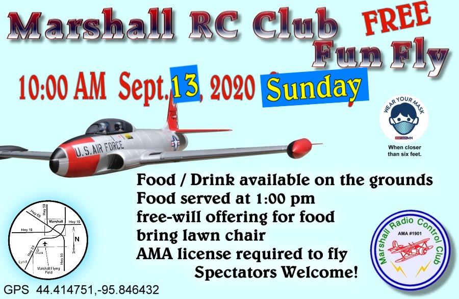 Marshall RC Club Fun Fly 2020