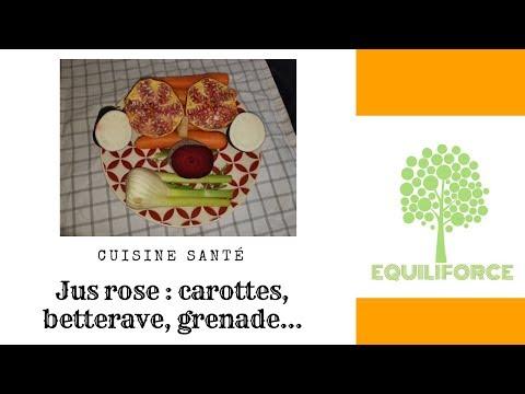 Jus de carottes/grenade/betterave/radis noir/fenouil  + recette salée avec la pulpe de carottes