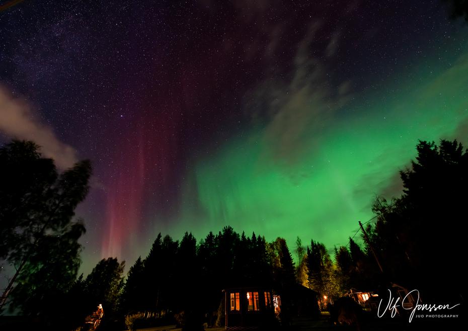 Oväntat norrsken vid Gussö-observatoriet