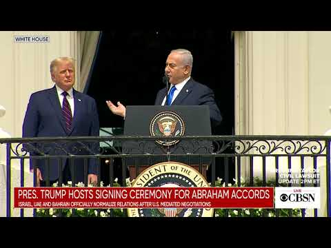 Copy of Watch live: Trump hosts Israel, Bahrain and UAE for signing of historic diplomatic deals