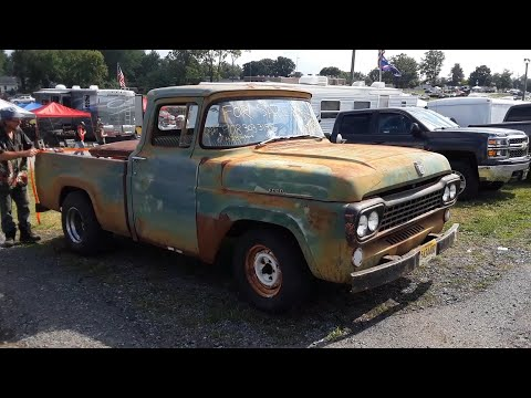 1958 Ford F100 Pickup With A 428 A Swap Meet Find At the 2020 Ford Nationals Carlisle